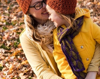 Mommy and Me Matching Hats - Mother Daughter Matching Outfit - Mommy and Me Winter Outfits - Mother Daughter Hats - Mommy and Me Clothing