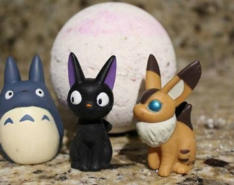 ON SALE! Hayao Miyazaki bath bomb*totorro inside the balls. all natural. great gifts for anime lovers! HUGE bath balls