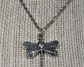 Dragonfly Charm Necklace, Earrings, or Set