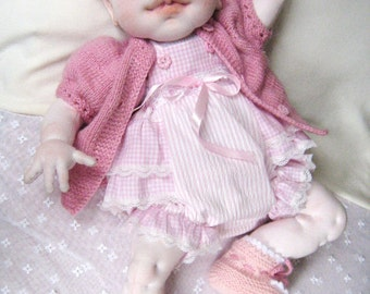 Realistic Baby Doll, Reborn Doll, Soft Sculpture Doll, OOAK Doll, Art Doll, Girl Gift, Handmade Doll, Waldorf Inspired Doll, DELICIA 20""