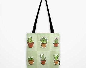Cactus Tote Bag, Tote bag, Beach Bag, Grocery Sack, Library Tote, Shoulder Bag, Travel Bag, Bag