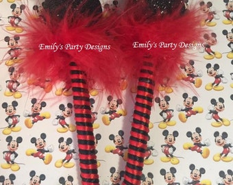 Mickey Mouse Favor, Minnie Mouse Pen Favor, Minnie mouse Favor