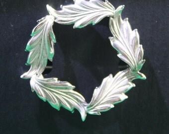 Vintage Carl Art sterling silver oak leaf brooch