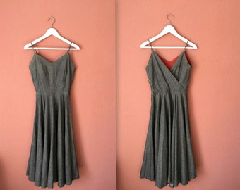 1950s grey cotton sundress