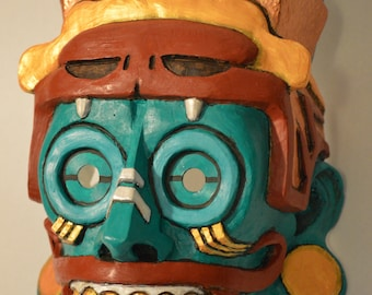 Painted Tlaloc Mask