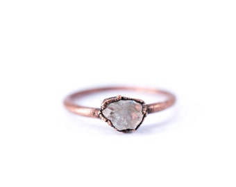 Raw Topaz ring | Topaz crystal ring | Utah Topaz Ring | Raw Topaz crystal ring | Topaz and Copper Ring