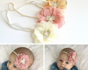 newborn headbands, infant headbands, baby girl gifts, baby headbands, its a girl gift, flower headbands, bows for girls, newborn photo prop