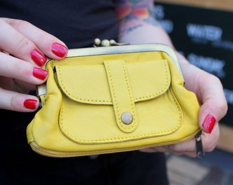 Amy Purse Yellow Leather