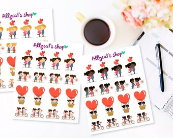 In Love Couples Stickers - Planner Stickers