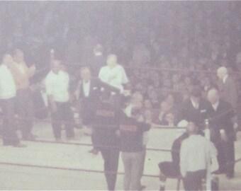 Vintage 1960's Eddie Mills Machen Prize Fight Snapshot Photograph - Free Shipping