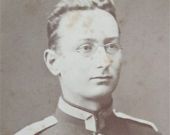 Unknown 1860's Saxony German Soldier In Dress Uniform CDV Photograph - Free Shipping