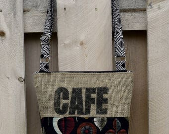 Recycled Crossbody Burlap Coffee Bag  EL SALVADOR Cross body