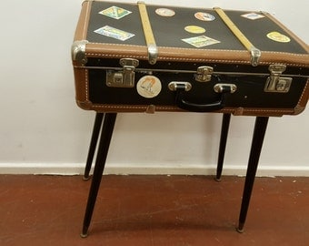 A Vintage Suitcase Side Table
