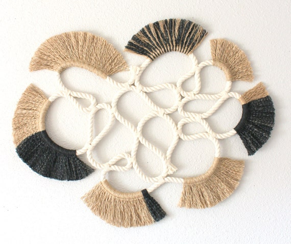 """Wall Hanging """"LOOP no.15""""  One of a kind Handcrafted Macrame/Rope art"""