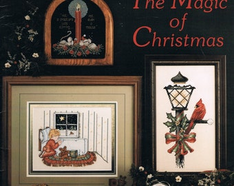 CROSS STITCH PATTERN - Christmas Counted Cross Stitch Pattern - Santa Cross Stitch - Vintage - The Magic Of Christmas Raindrop Book 16
