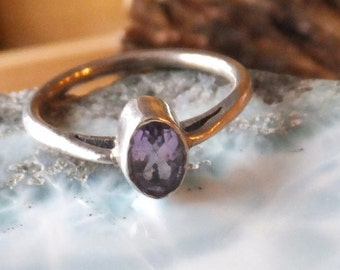 Amethyst and Sterling Silver Ring.... size 6 only