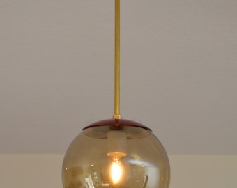 Lollipop Red Pendant, Pendant Lighting, Modern Lighting, Handmade Light