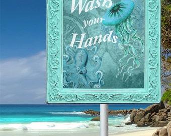 Wash your Hands, Bathroom Print