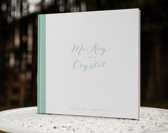 Mint Green Wedding Decor, Mint Wedding Decor, Pastel Wedding Guest Book, Be Our Guest, Custom Guest Book, GBS115