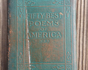 1920's Leather Library Mini Book Fifty Best Poems of America