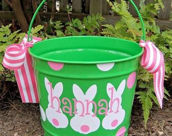 Easter Bucket- Personalized Easter Bucket- Easter Basket