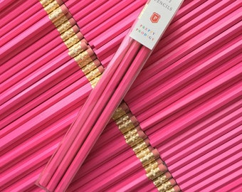 Fuchsia Pencils, set of 9, Back to School Supplies, Gifts for him, Gifts for her, Preppy School Supplies