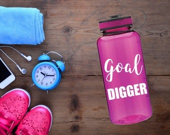 goal digger / water bottle / funny water bottle / goal digger bottle / custom water bottle / personalized / goal digger water bottle