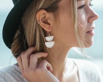 Jocasta Earrings || Half Circle Drops