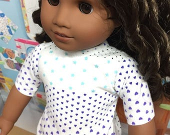 Up-Cycled Shirt for American Girl Dolls or any 18 inch doll