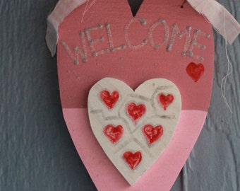 Valentine's welcome sign, porch decor
