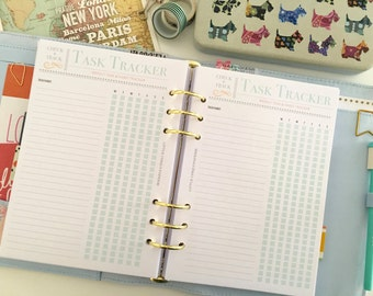 Printable Weekly Habit Tracker - Daily Task Tracker - Routine Tracker - Daily Routine Tracker - Printable Planner Insert - INSTANT DOWNLOAD