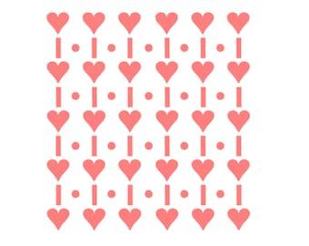 "Heart Cookie Stencil, Heart Cookies, Heart Cake Stencil, Heart Pattern Stencil, 5.5"" x 5.5"", Wedding Stencil, Heart Fondant Cookie"