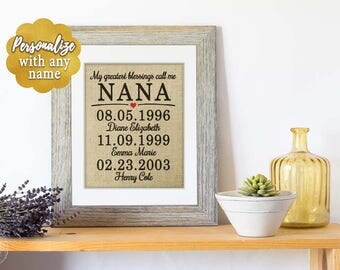 Gift for Mom Christmas Gift for Nana Gift, Christmas Gift for Grandma Gifts from Daughter, Grandmother gift, Grandkids Gift for Grandma