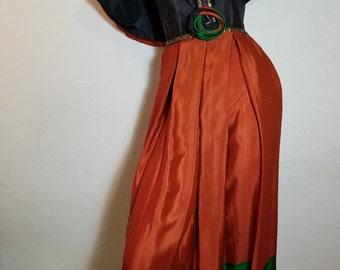 FREE  SHIPPING  Vintage  Couture  Boho  Silk  Dress