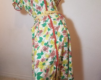 FREE  SHIPPING  1930 Cotton Day Dress