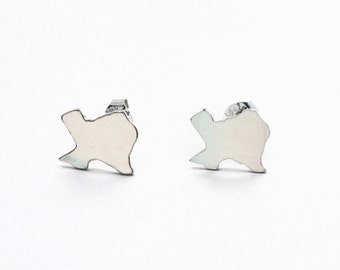 Small Sterling Silver Texas Studs- FREE SHIPPING