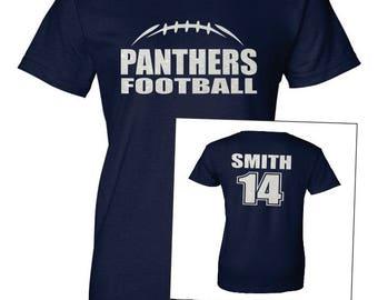 FOOTBALL SHIRT. Football TShirt. Team Football. Mascot Football. Football Team. Sports Team. Football Laces Shirt. Football Team Shirt.