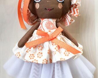 Handmade Doll - Rag Doll - Fabric Doll - Gift for a Girl - OOAK - Textile Doll
