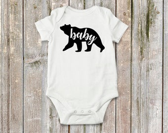 Baby bear! Super cute bodysuit for baby girl or baby boy.