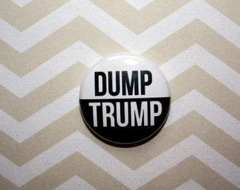 Dump Trump Protest Politics Political- One Inch Pinback Button Magnet