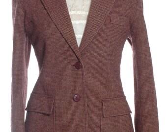 Vintage 1970's Red Tweed Jacket 14 - www.brickvintage.com