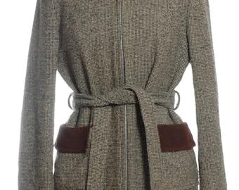Vintage 1960's Rothmar Tweed Hooded Coat 12 - www.brickvintage.com