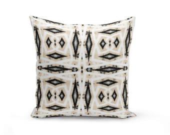 Outdoor Throw Pillow, Outdoor Pillow, Black Grey, White, Sand Beige Decor, Outdoor Decor