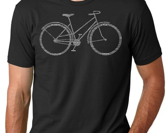 Bicycle Parts Name t-Shirt Bike BMX Biker Shirts Tees Tshirts