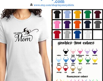 Color Guard MOM Winter Guard  T-Shirt  Tee S M L Xl 2Xl 3Xl Mother's Day Gift