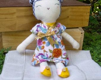 Hanako rag doll / japanese doll / cloth doll / japanese themed