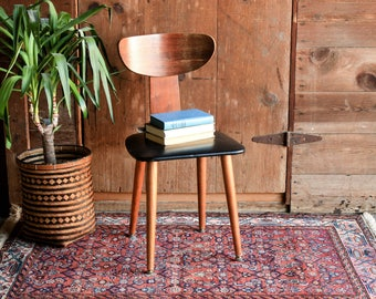 Vintage Bent Wood Chair, Bentwood Chair, Mid Century Modern Chair, Plycraft Chair, Danish Modern Chair, Mid Century Office Chair