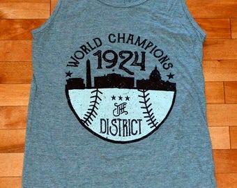 1924 World Champions - Gray Tank - Small