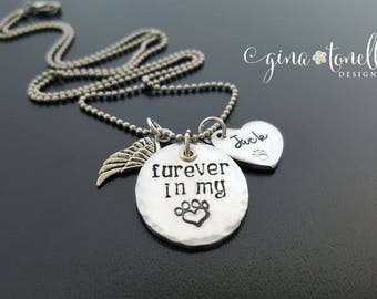 Personalized Pet Memorial Necklace, Loss of Pet, Dog Memorial Necklace, Cat Memorial Necklace,Pet Remembrance Jewelry,Dog Loss Gift,Cat Loss