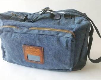 "Vintage Large 21"" Levi Strauss Denim Travel Bag"